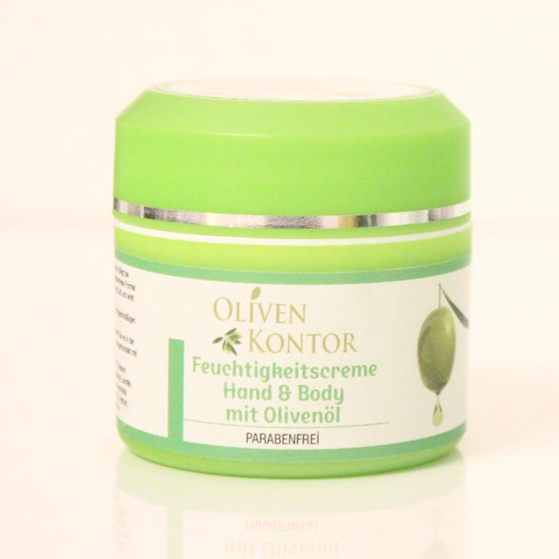 Haut milde Feuchtigkeitscreme mit wertvollem Olivenöl schützt die Hand & Body Creme ihre Haut