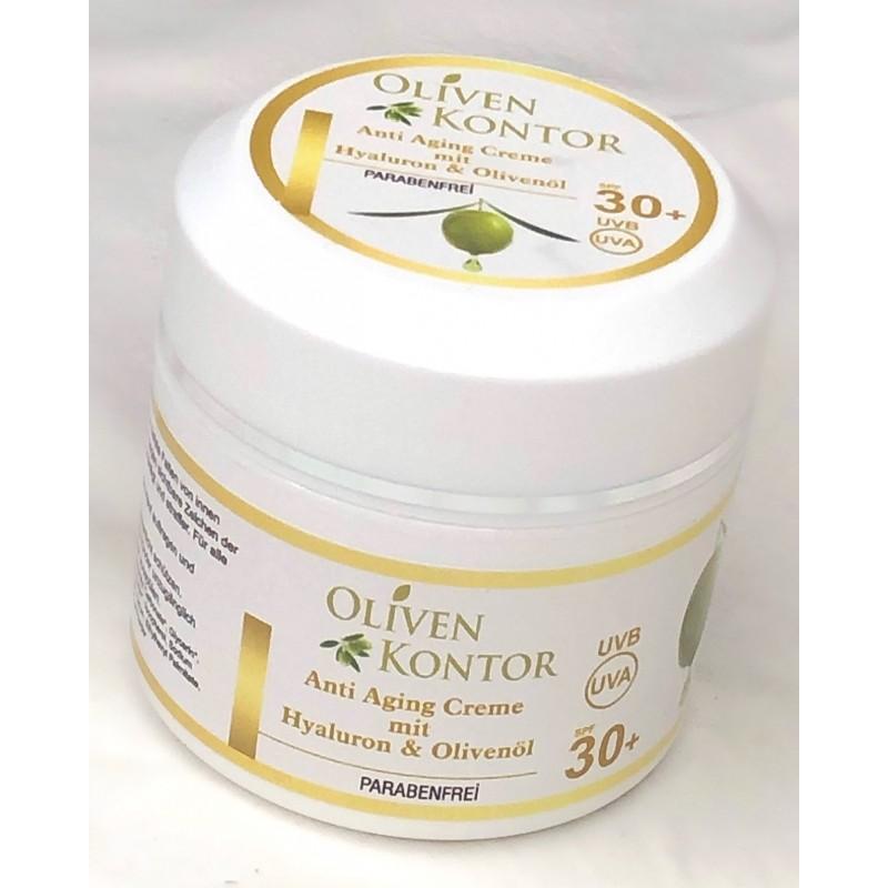 Anti Aging Creme mit Hyaluron & Olivenöl
